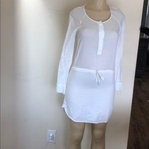 James Peres white dress